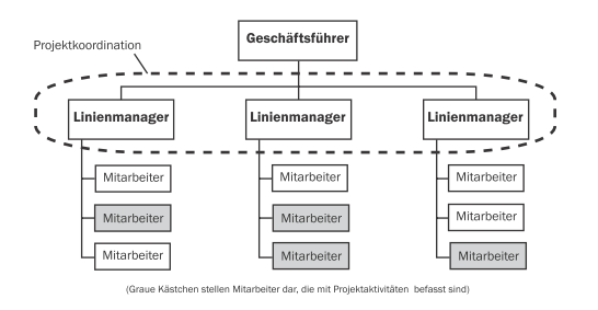 Projektorganisation: Linie - Matrix - Projektbasiert